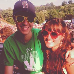 At least we succeeded at one picture attempt. Here's Ryan and I up on the hill at the concert.
